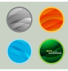 Set circle beautiful abstract wave color vector image