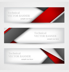 Set of banners with lines paper business design vector