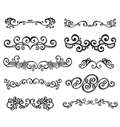 Set of Calligraphic Borders vector