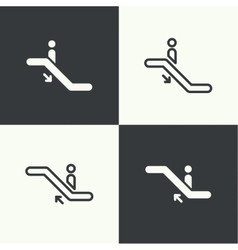 Set of icons escalator vector image