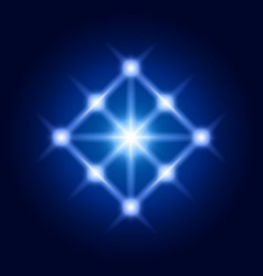 shine rhombus sacred geometry sign vector image