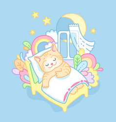 Sleeping kitty vector