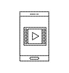 smartphone player button online internet vector image