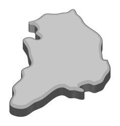 South korea map icon gray monochrome style vector