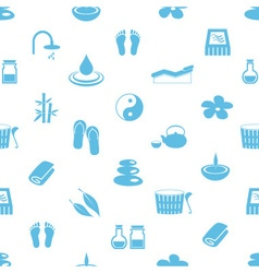 spa and relaxation simple blue and white seamless vector image