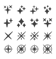 sparkle icon set vector image
