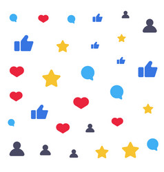 speech bubbles like star follower symbols vector image