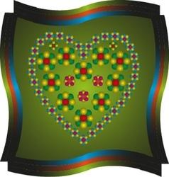 Spring heart1 vector