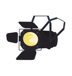 Stage light lamp vector