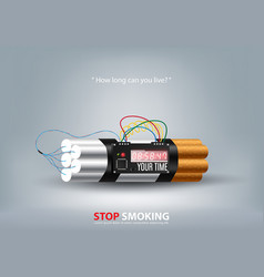 Stop smoking concept advertisement tobacco vector