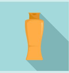 Sun creme bottle icon flat style vector