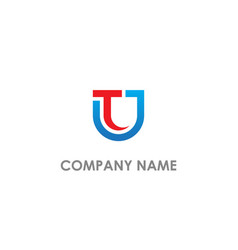t u initial business company logo vector image