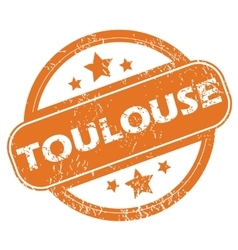 Toulouse round stamp vector