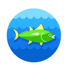 tuna icon fishing vacation vector image