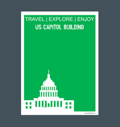 us capitol building washington united states vector image