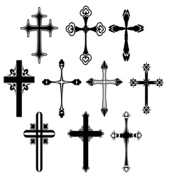 Cross symbol set vector image