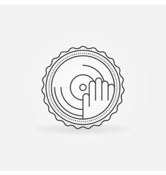 DJ label or badge vector image