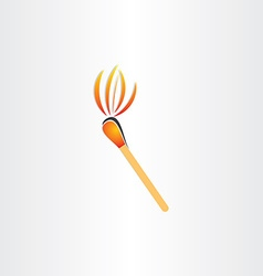 matches burning or fire torch symbol vector image vector image