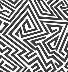 monochrome curved seamless pattern vector image vector image