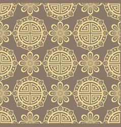 oriental seamless pattern - korean japanese or vector image