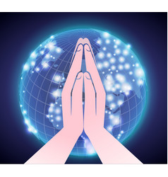 prayer across the world vector image vector image