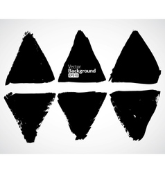 Set of grunge triangles vector image vector image