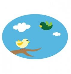 birds cartoon vector image vector image