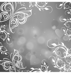 gray background with butterflies vector image