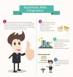 Infographic business man business concept vector image vector image