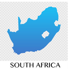 south africa map in africa continent design vector image vector image