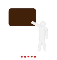 teacher standing near board icon different color vector image