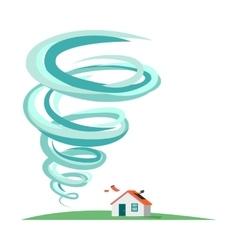 Tornado Hurricane Infographics Natural Disaster vector image