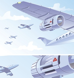 Airplane Wing vector image vector image
