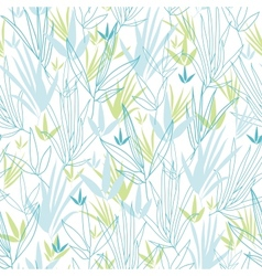 Blue bamboo branches seamless pattern background vector image vector image