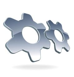 Gear cog logo vector