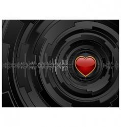 love futuristic background vector image vector image