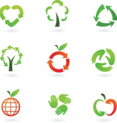 recycle icons vector image