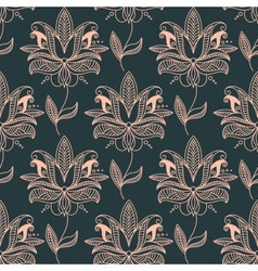 Repeat seamless floral background pattern vector