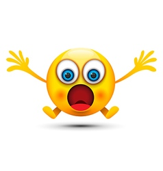 shocked emoji character vector image vector image