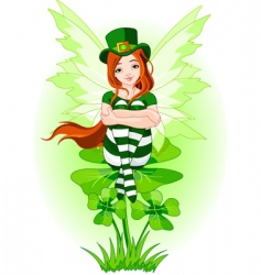 young St Patrick's fairy vector image vector image