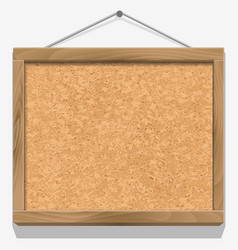 Cork board with wooden frame vector image vector image