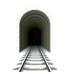 entrance to railway tunnel vector image