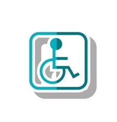 Isolated wheelchair inside frame design vector image