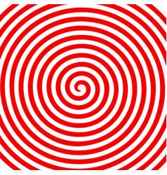 red white round abstract vortex hypnotic spiral vector image