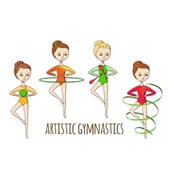 Sports for kids Artistic gymnastics vector image vector image