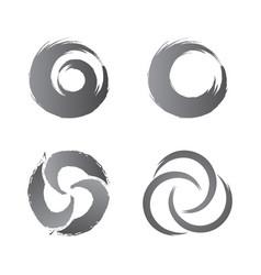 technology orbit web rings concept design vector image vector image
