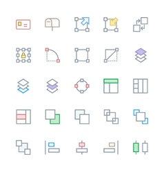 User Interface Colored Line Icons 21 vector image vector image