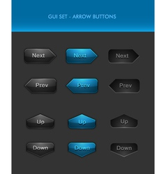 User Interface Elements - Arrow Buttons vector image vector image