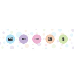 5 doodle icons vector