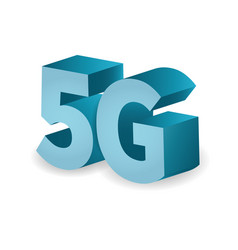 5g network technology in 3d icon vector image